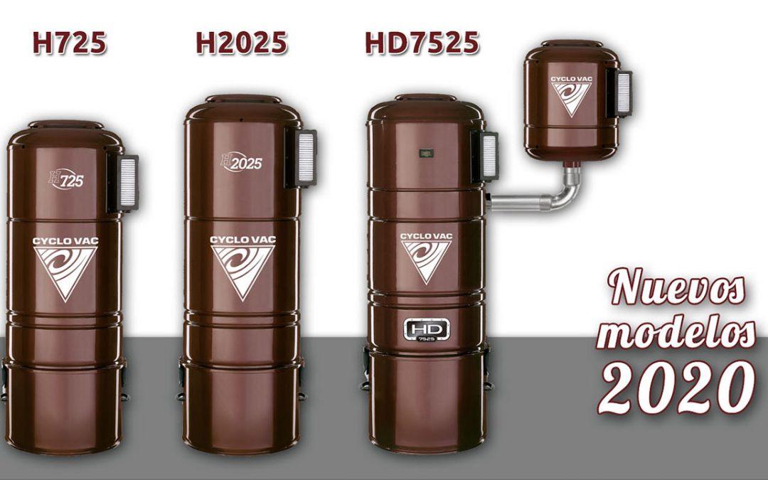 Nuevos modelos centrales Cyclo Vac 2020